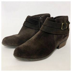 CLARKS Brown Suede Addily Cora Ankle Boot